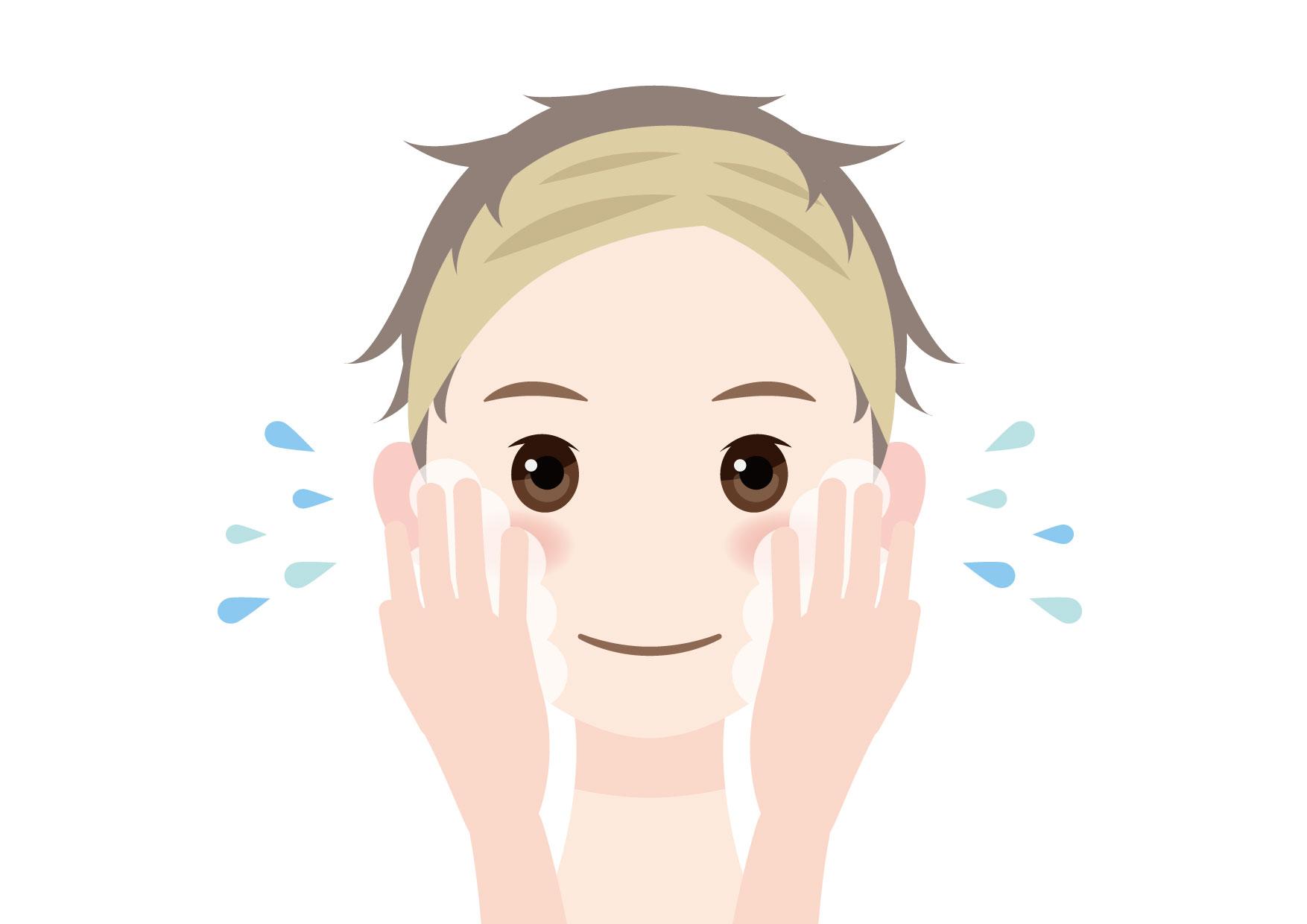 男性 洗顔 イラスト 無料