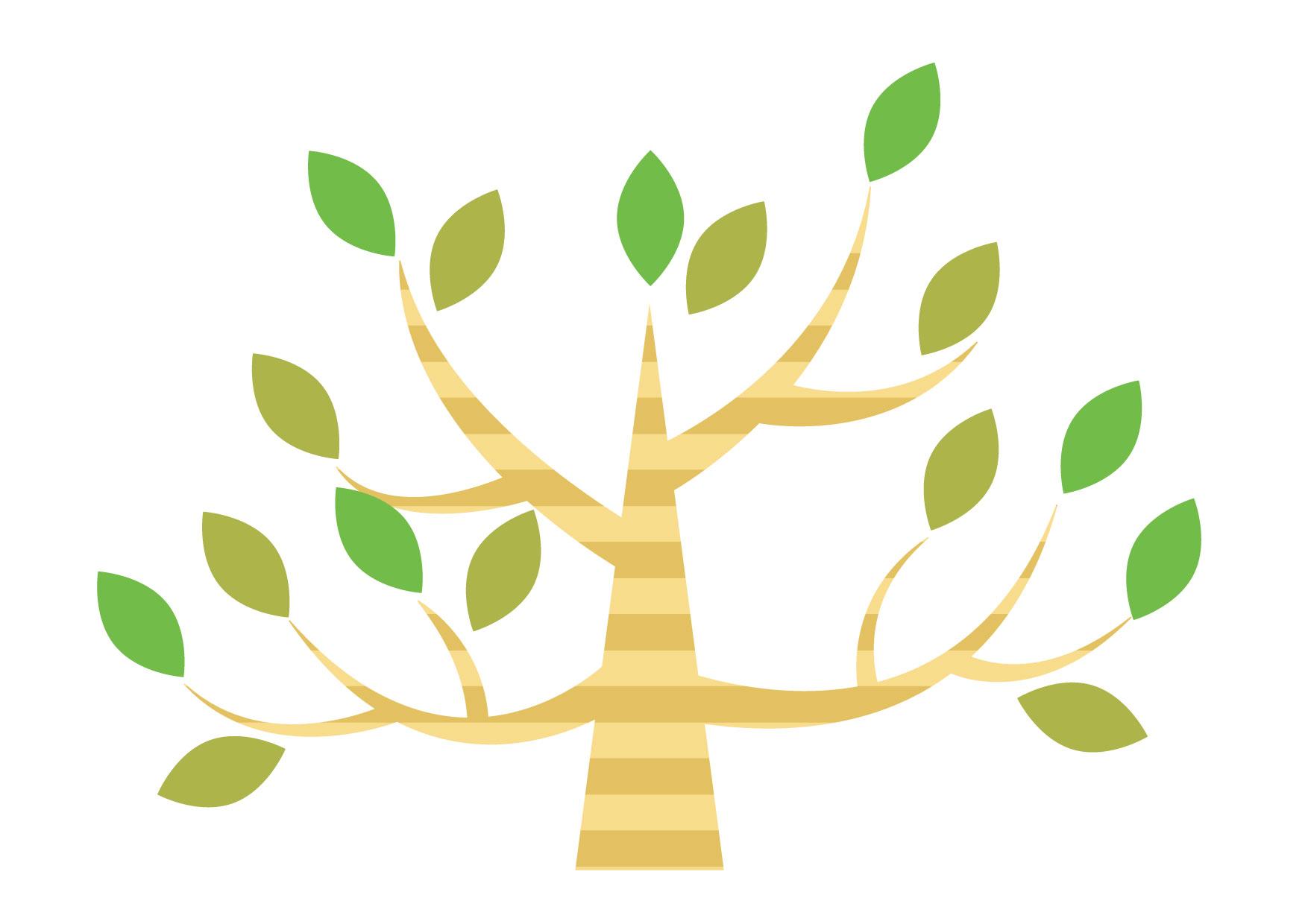 可愛いイラスト無料|木 デフォルメ − free illustration Tree deformed