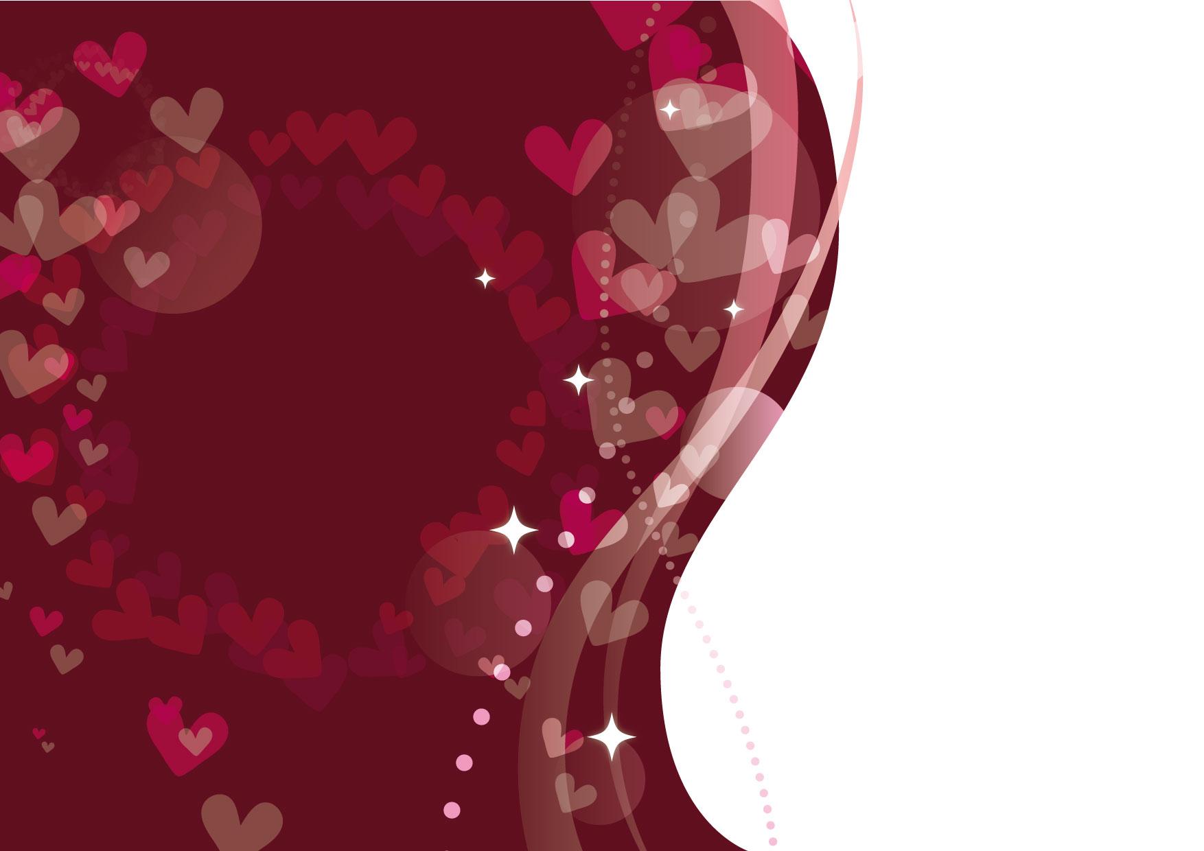 可愛いイラスト無料|バレンタイン ポスター チョコレート色 − free illustration Valentine poster chocolate color