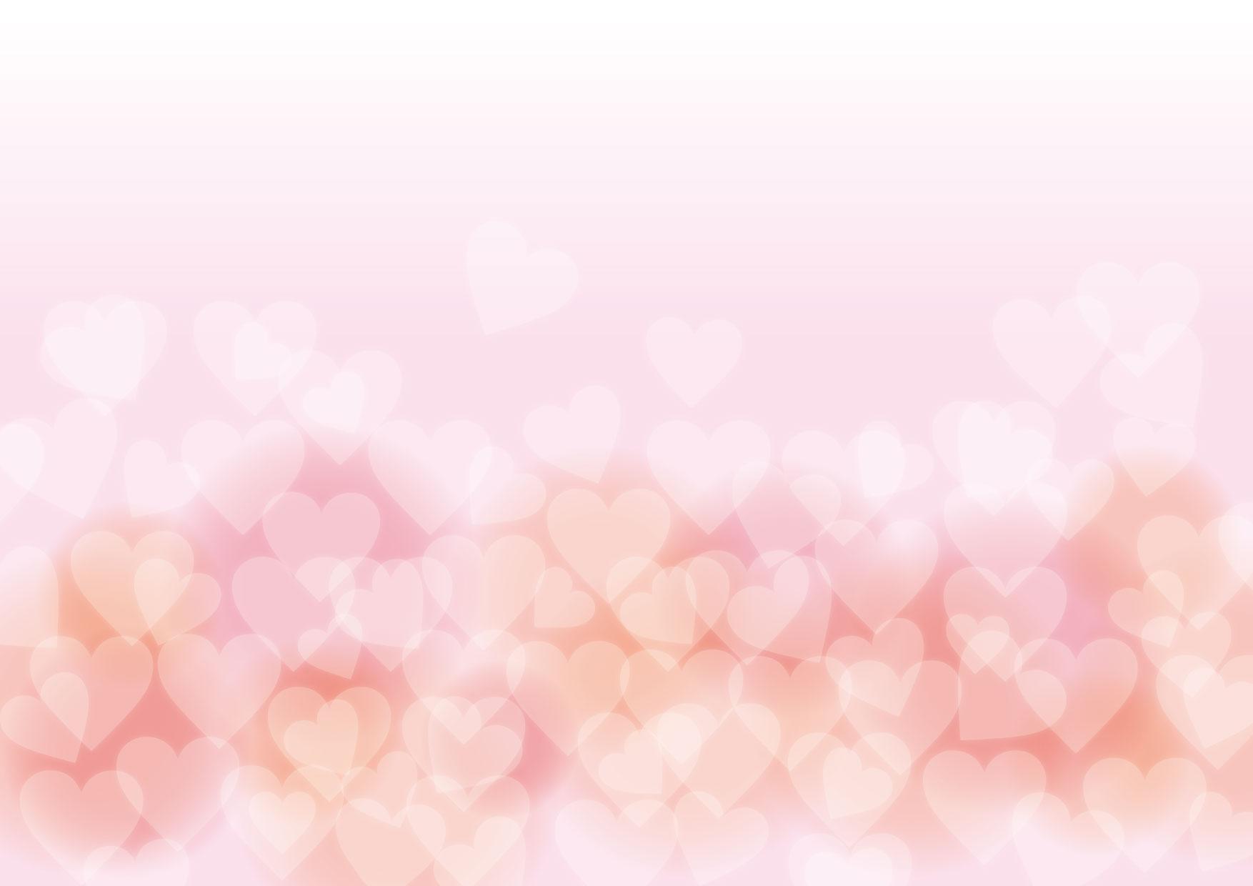 バレンタイン 背景 やわらか ピンク ハート イラスト 無料 | イラスト