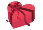 ハート バレンタイン プレゼント リボン 赤 イラスト 無料
