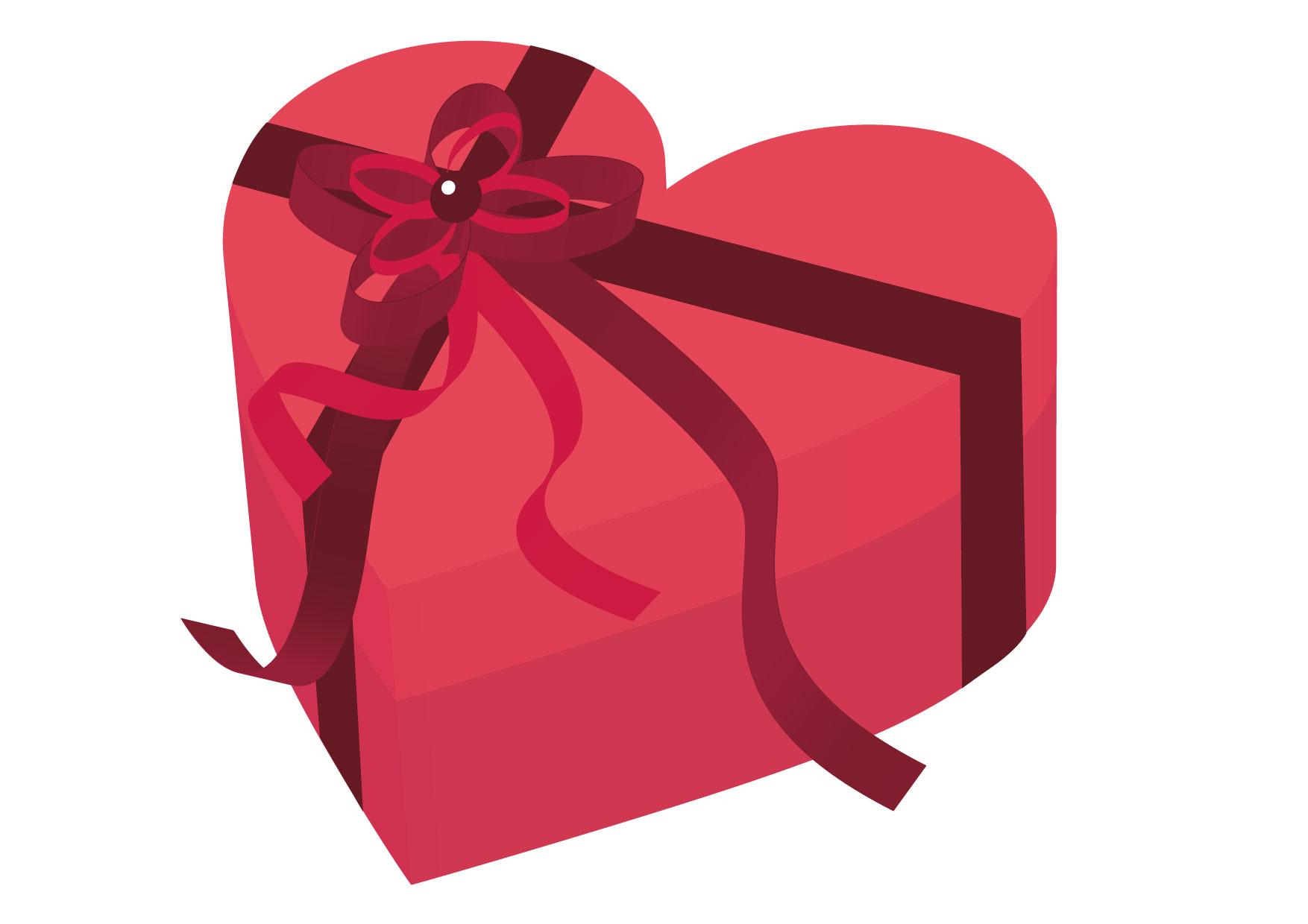可愛いイラスト無料|バレンタイン ハート ピンク 箱 − free illustration Valentine Heart Pink Box