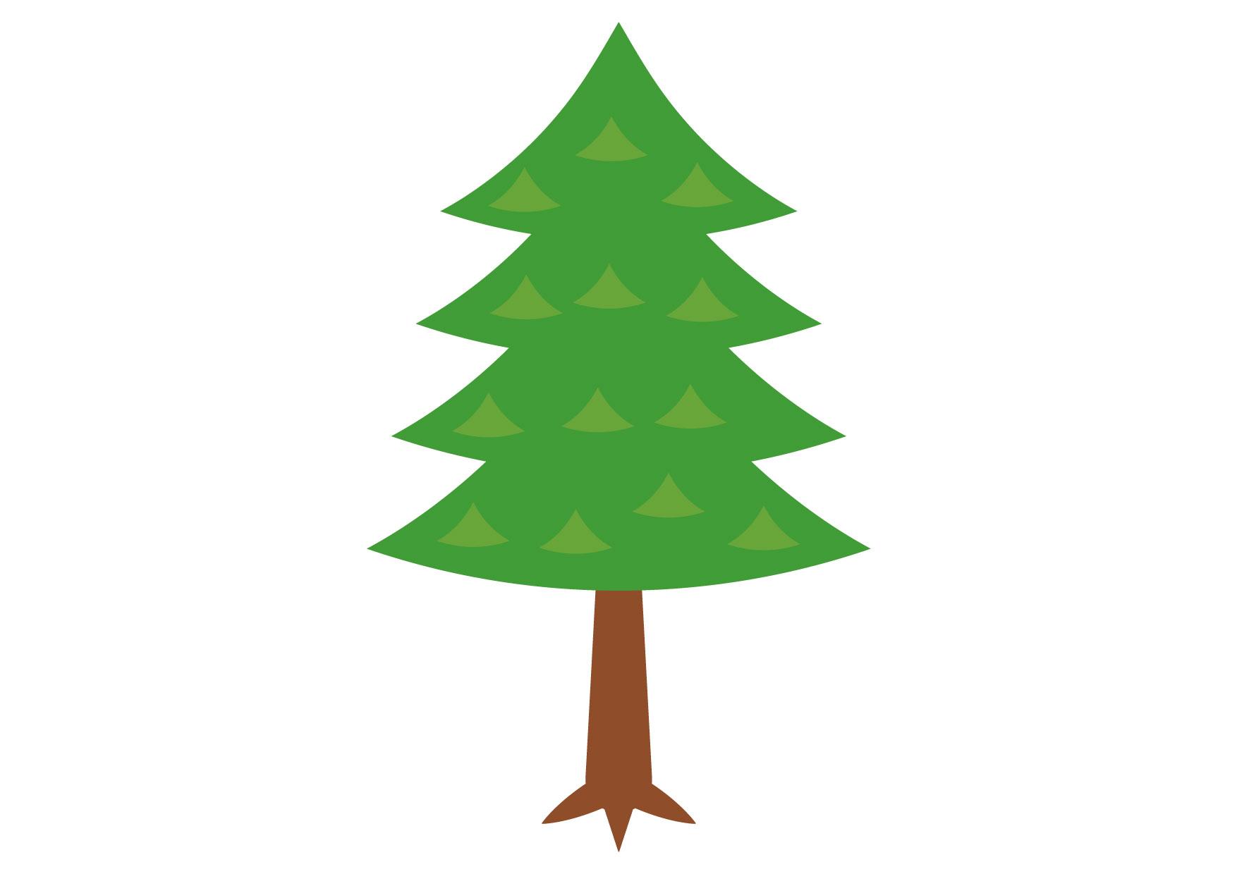 可愛いイラスト無料|杉 − free illustration Cedar