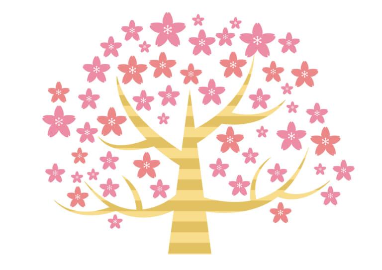 桜の木 デフォルメ イラスト 無料 無料イラストのイラストダウンロード