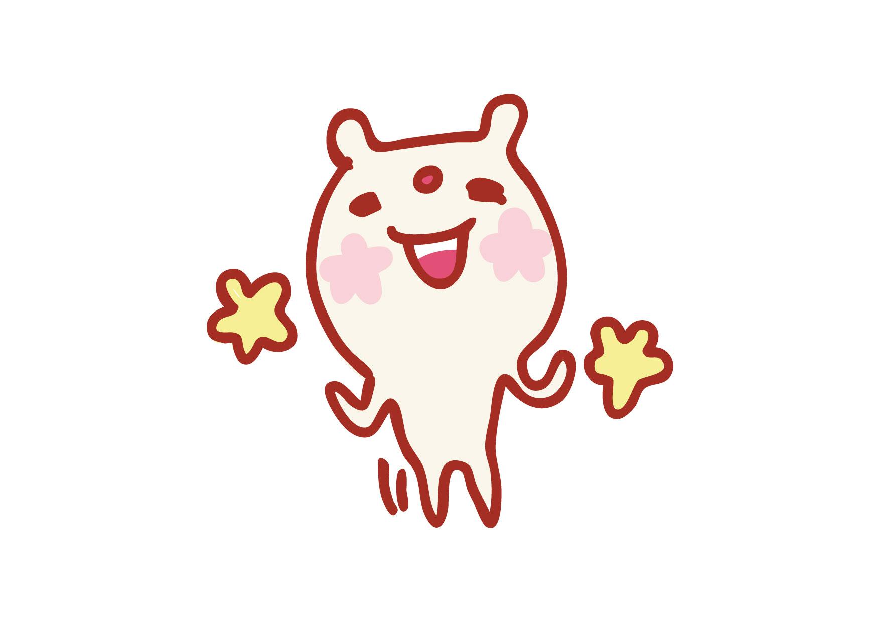 可愛いイラスト無料|クマ 笑顔 花 − free illustration Bear smile flower