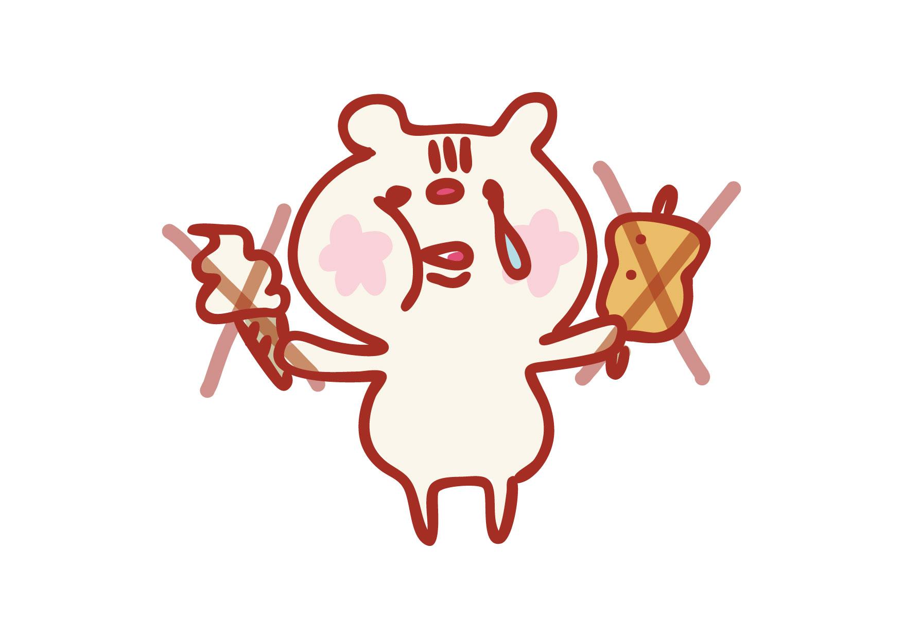 可愛いイラスト無料|クマ ダイエット − free illustration Bear diet