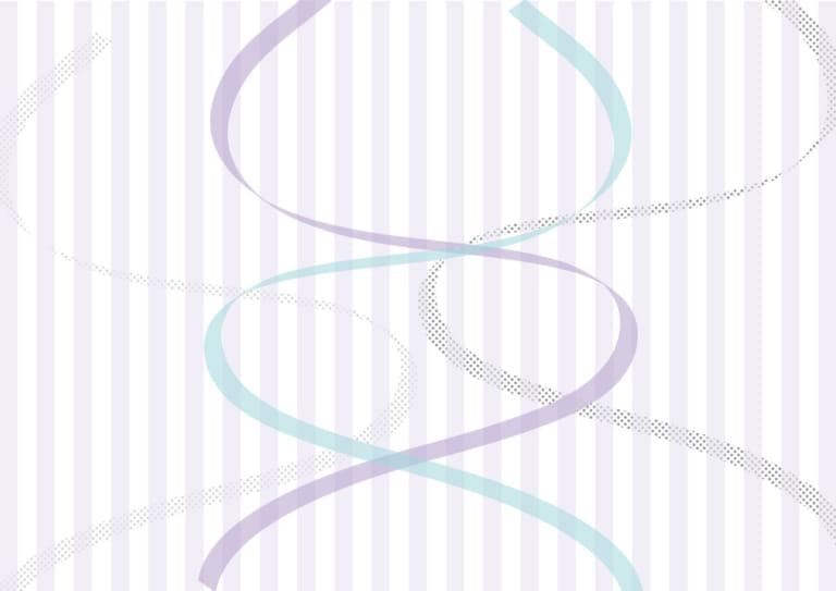 背景 リボン ストライプ 紫 イラスト 無料
