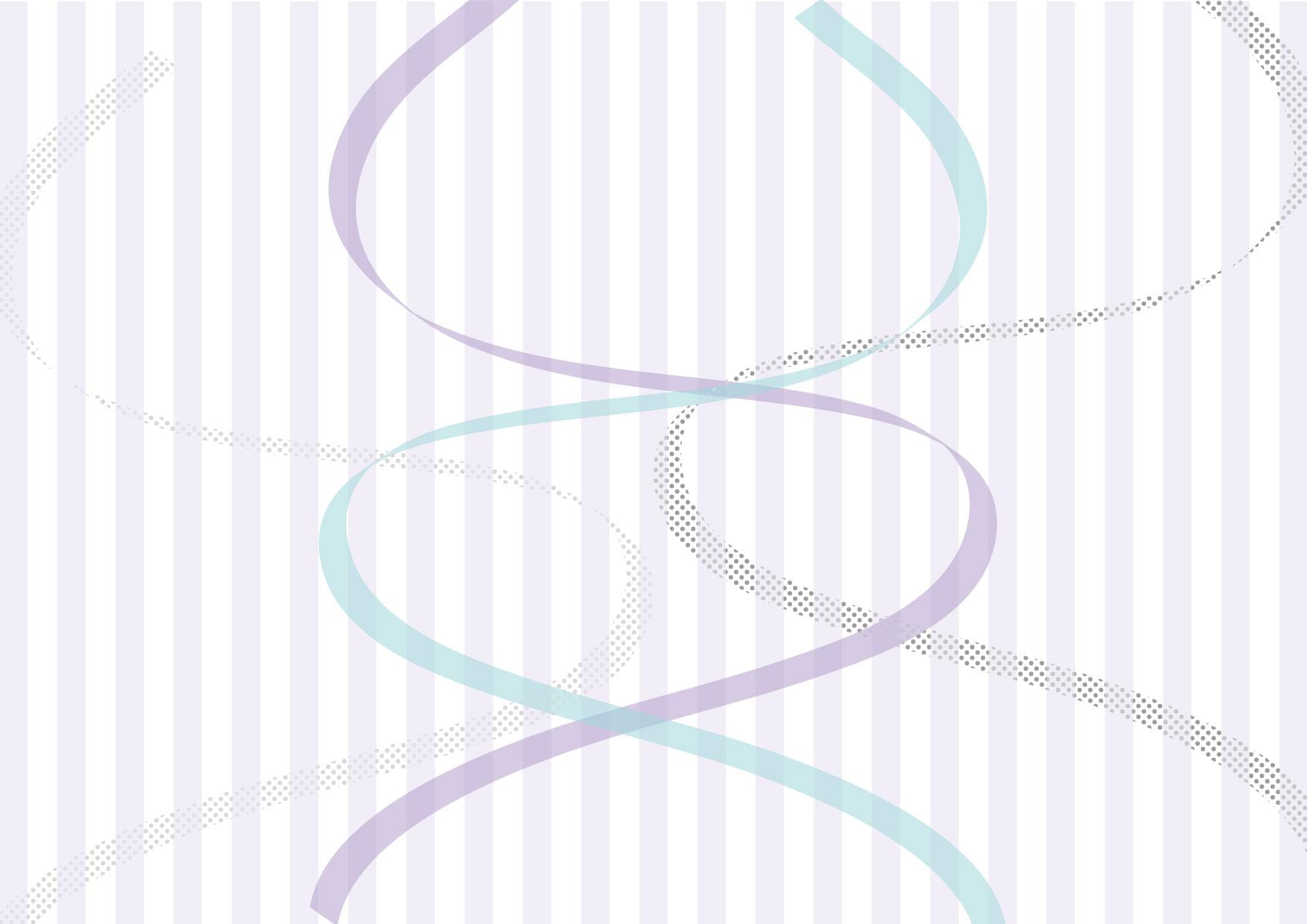 可愛いイラスト無料|リボン ストライプ 紫 背景 − free illustration Ribbon stripe purple background