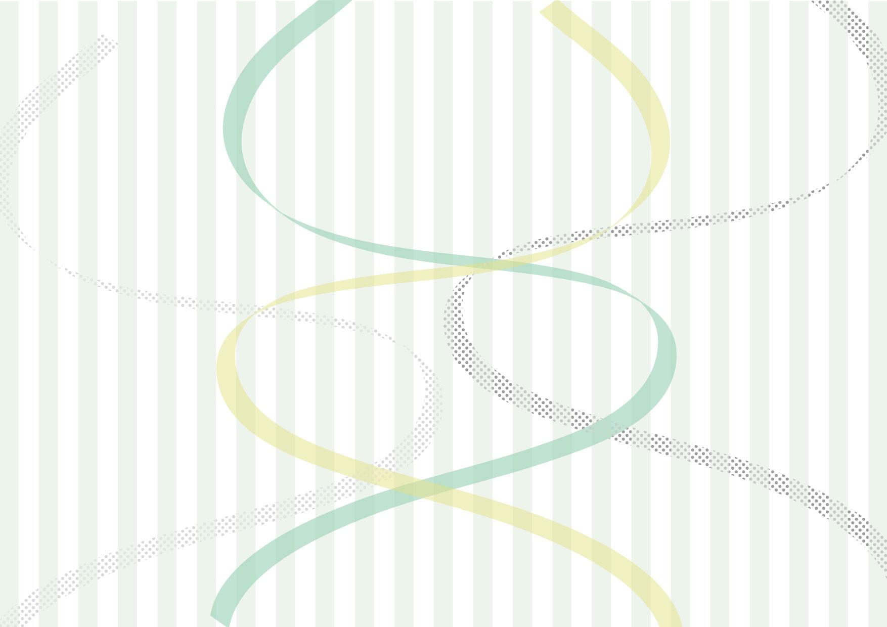 可愛いイラスト無料|リボン ストライプ グリーン 背景 − free illustration Ribbon stripe green background