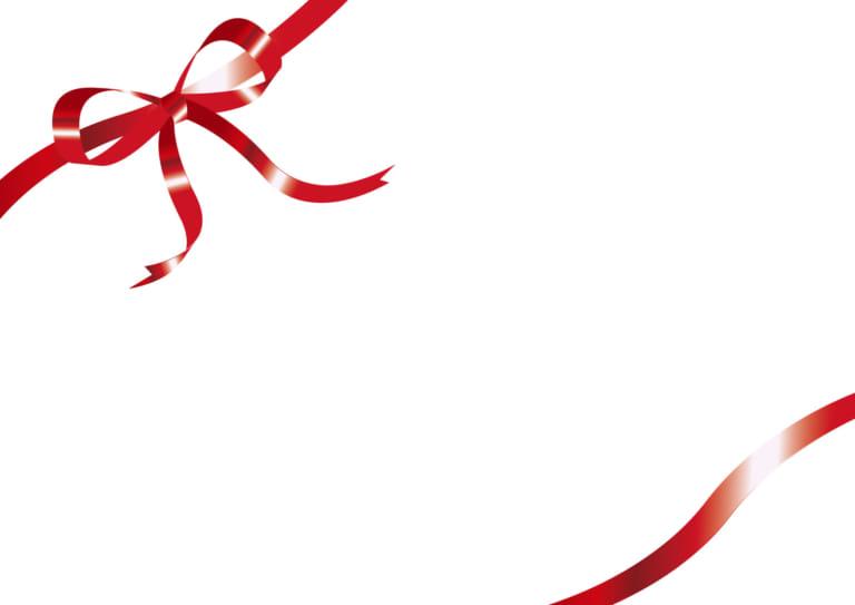 背景 リボン 光沢 赤 イラスト 無料