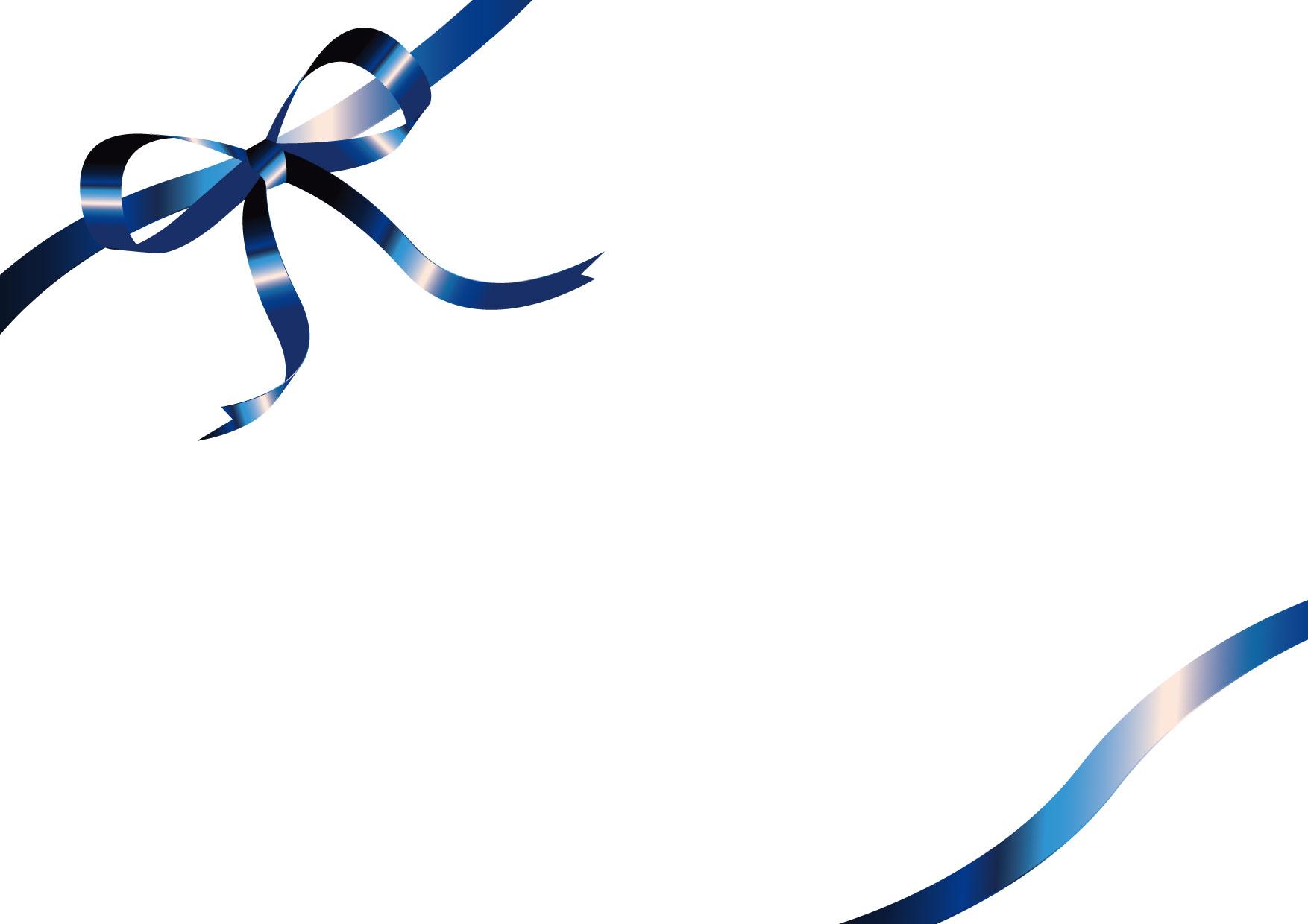 可愛いイラスト無料|リボン 青 背景 − free illustration Ribbon blue background