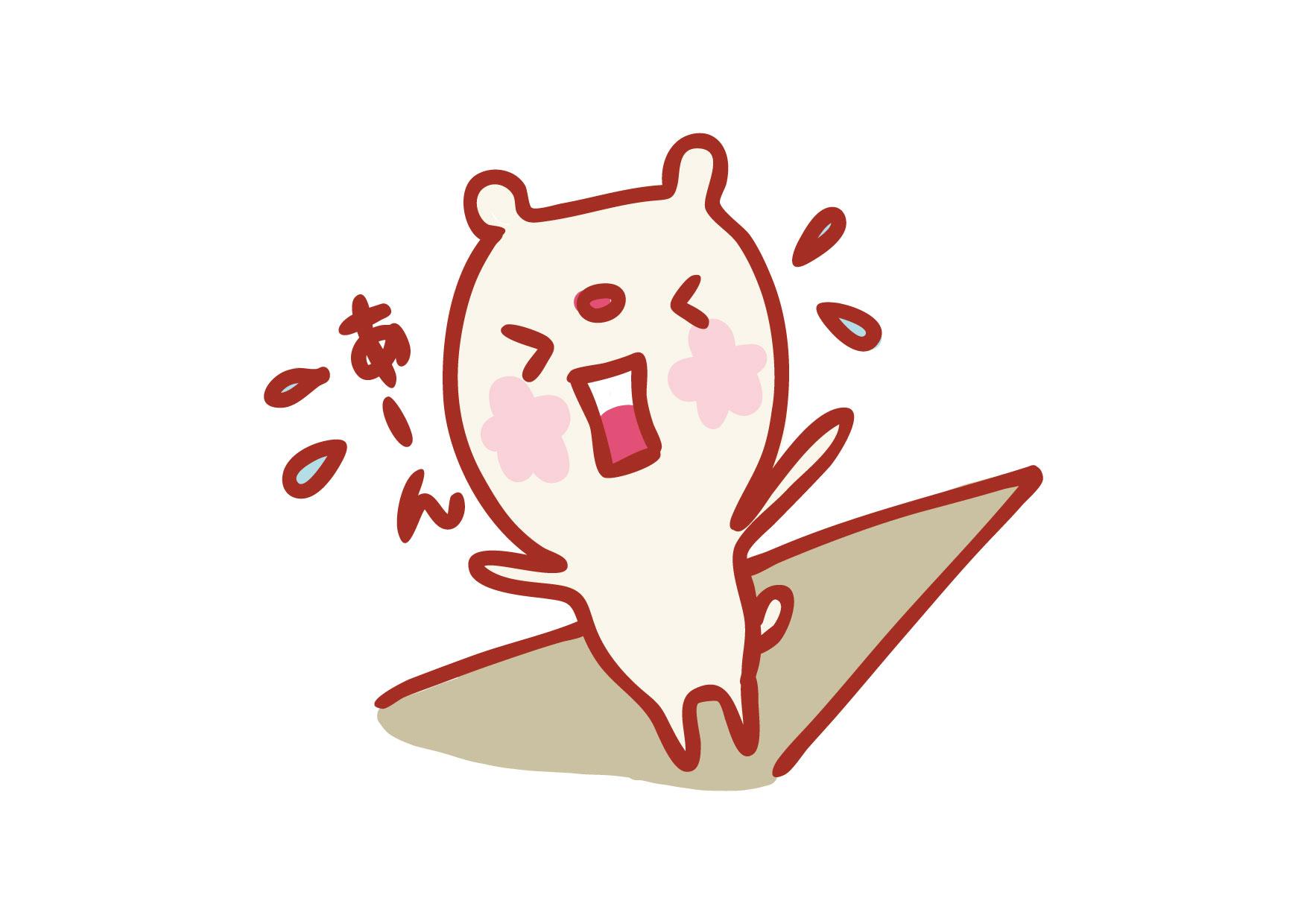可愛いイラスト無料|クマ 焦る − free illustration Bear impatient