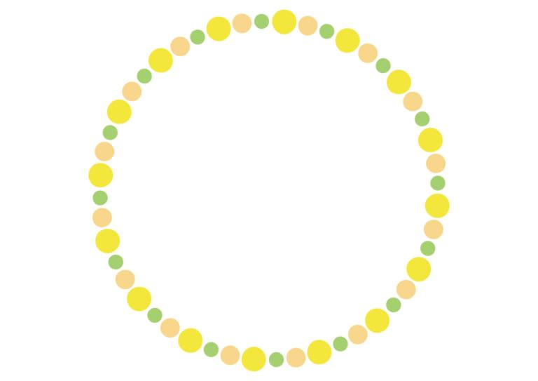 フレーム 背景 ドット 黄色 イラスト 無料