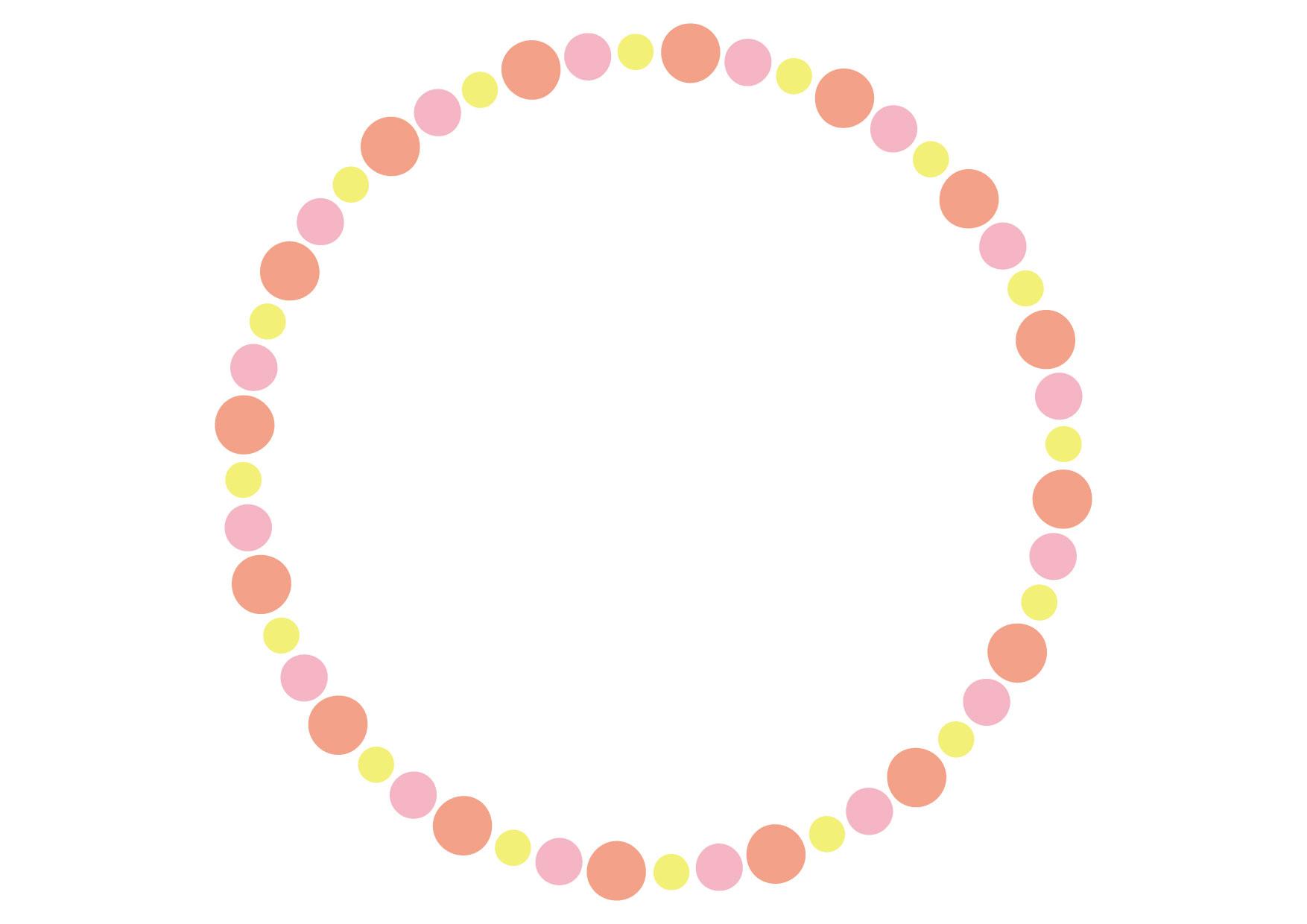 円フレーム ピンク 背景 イラスト 無料 無料イラストのイラスト