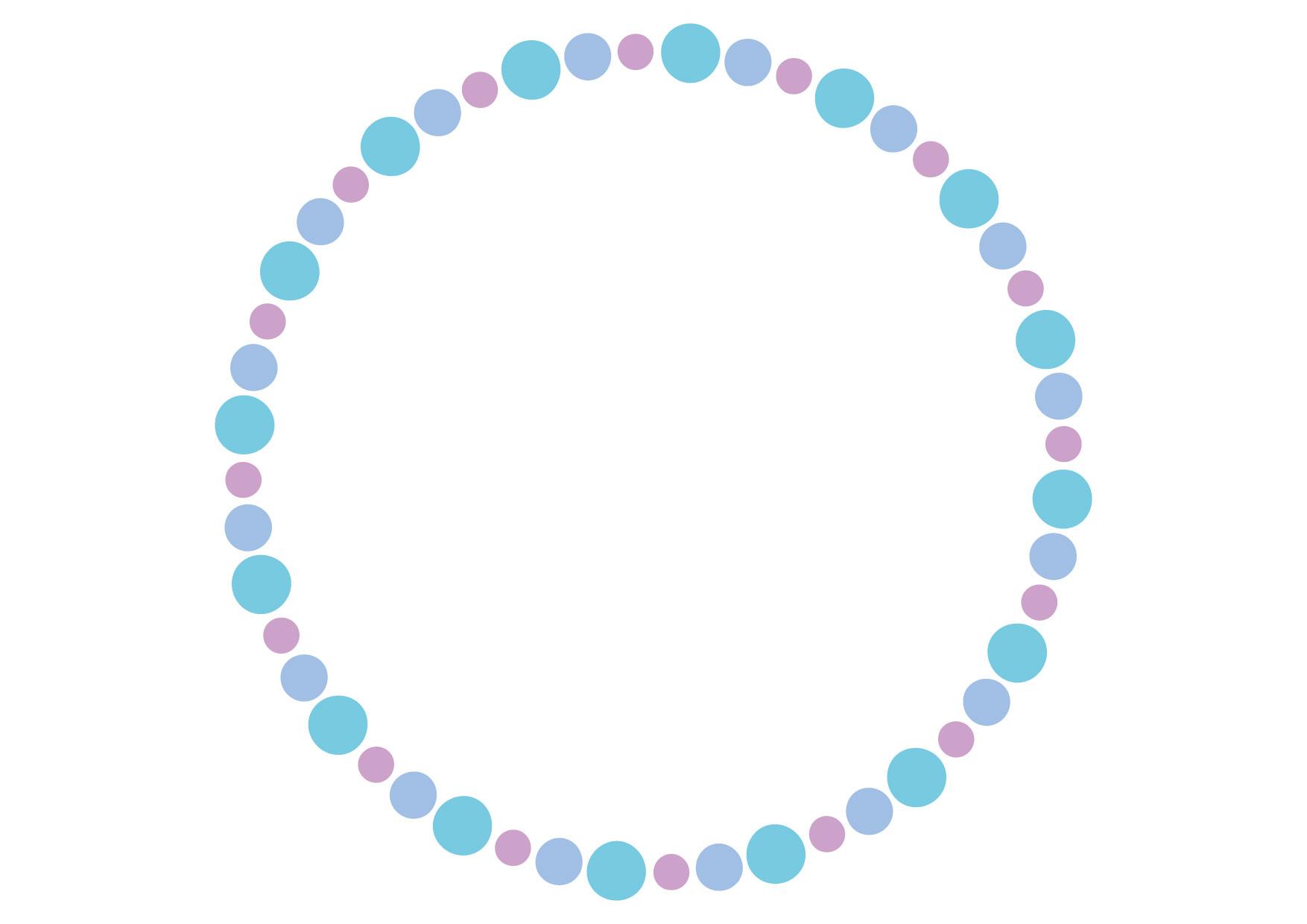 可愛いイラスト無料|円フレーム ブルー 背景 − free illustration Circle frame blue background