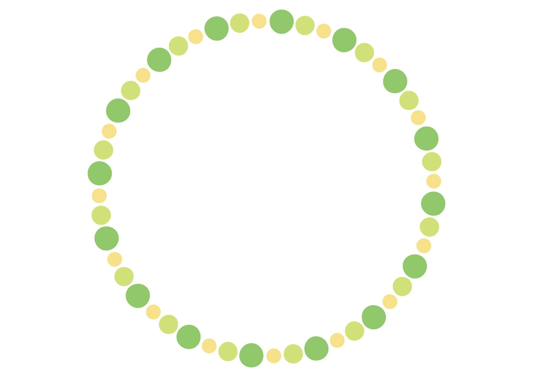 フレーム 背景 ドット 緑 イラスト 無料