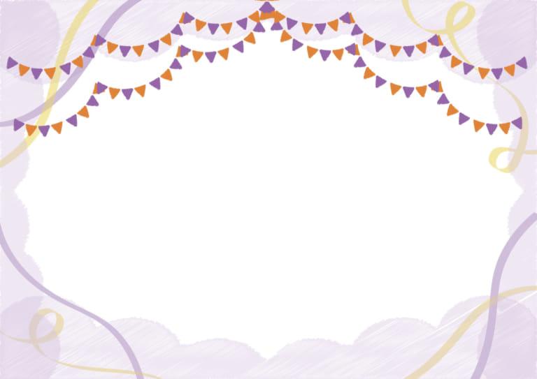 背景 フラッグ リボン 落書き 紫 イラスト 無料紫 イラスト 無料