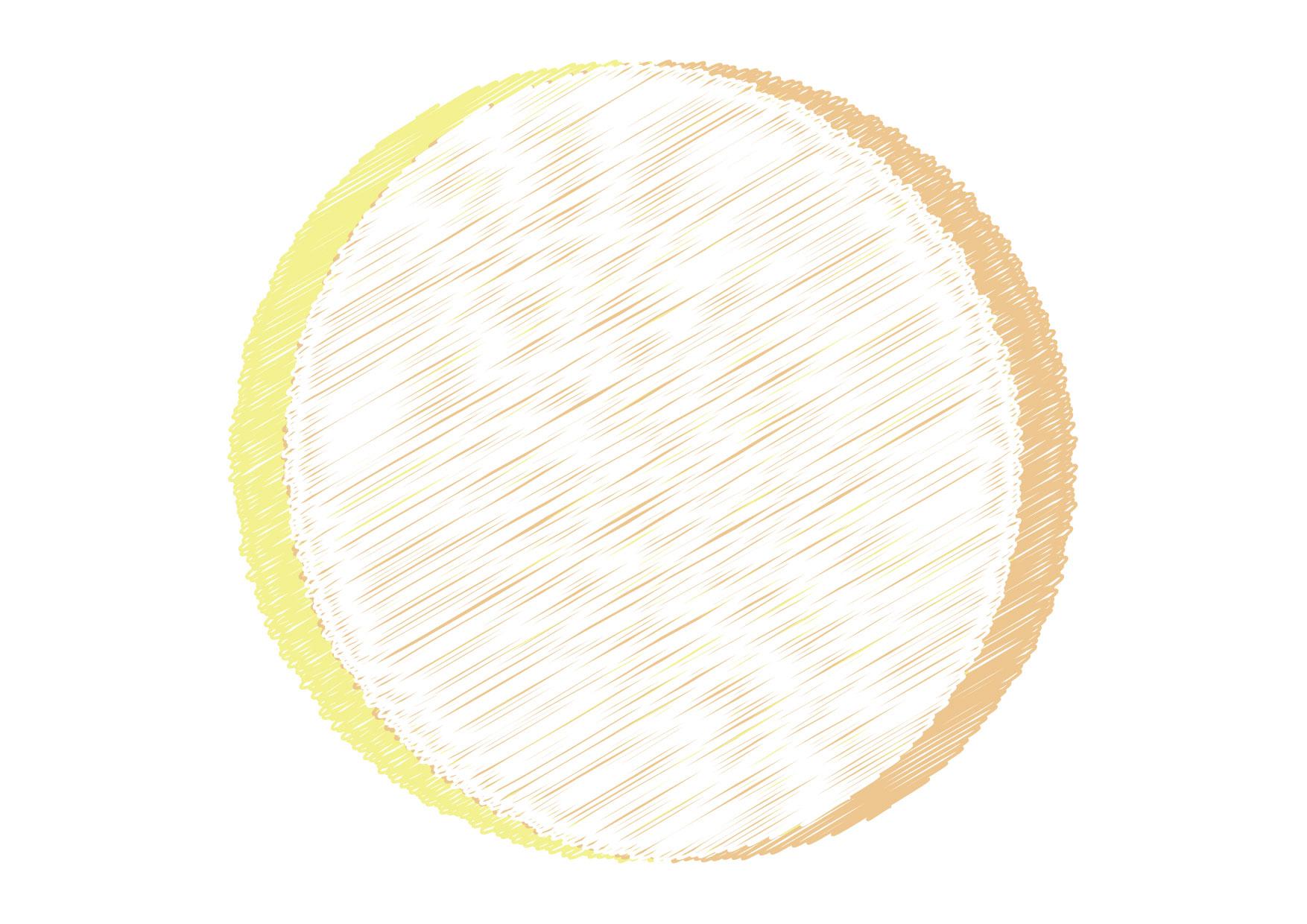 可愛いイラスト無料|円フレーム 落書き 黄色 背景 − free illustration Circle frame graffiti yellow background