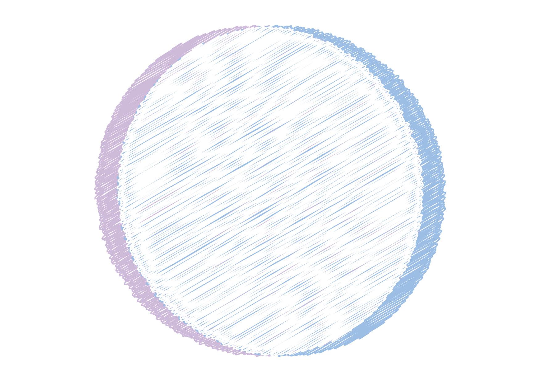 可愛いイラスト無料|円フレーム 落書き 青色 背景 − free illustration Circle frame graffiti blue background