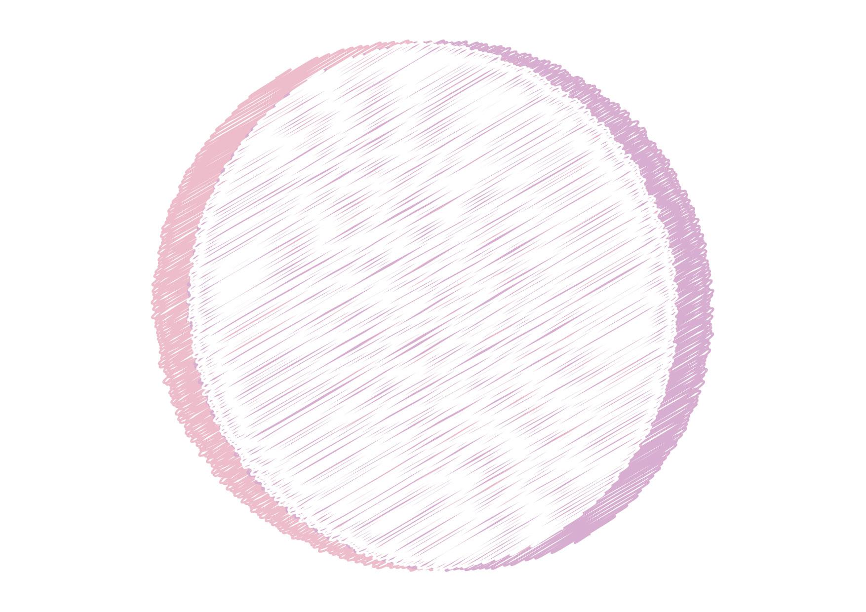 可愛いイラスト無料|円フレーム 落書き ピンク 背景 − free illustration Circle frame graffiti pink background