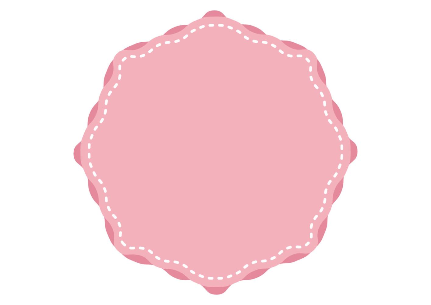 背景 ピンク ステッチ フレーム イラスト 無料