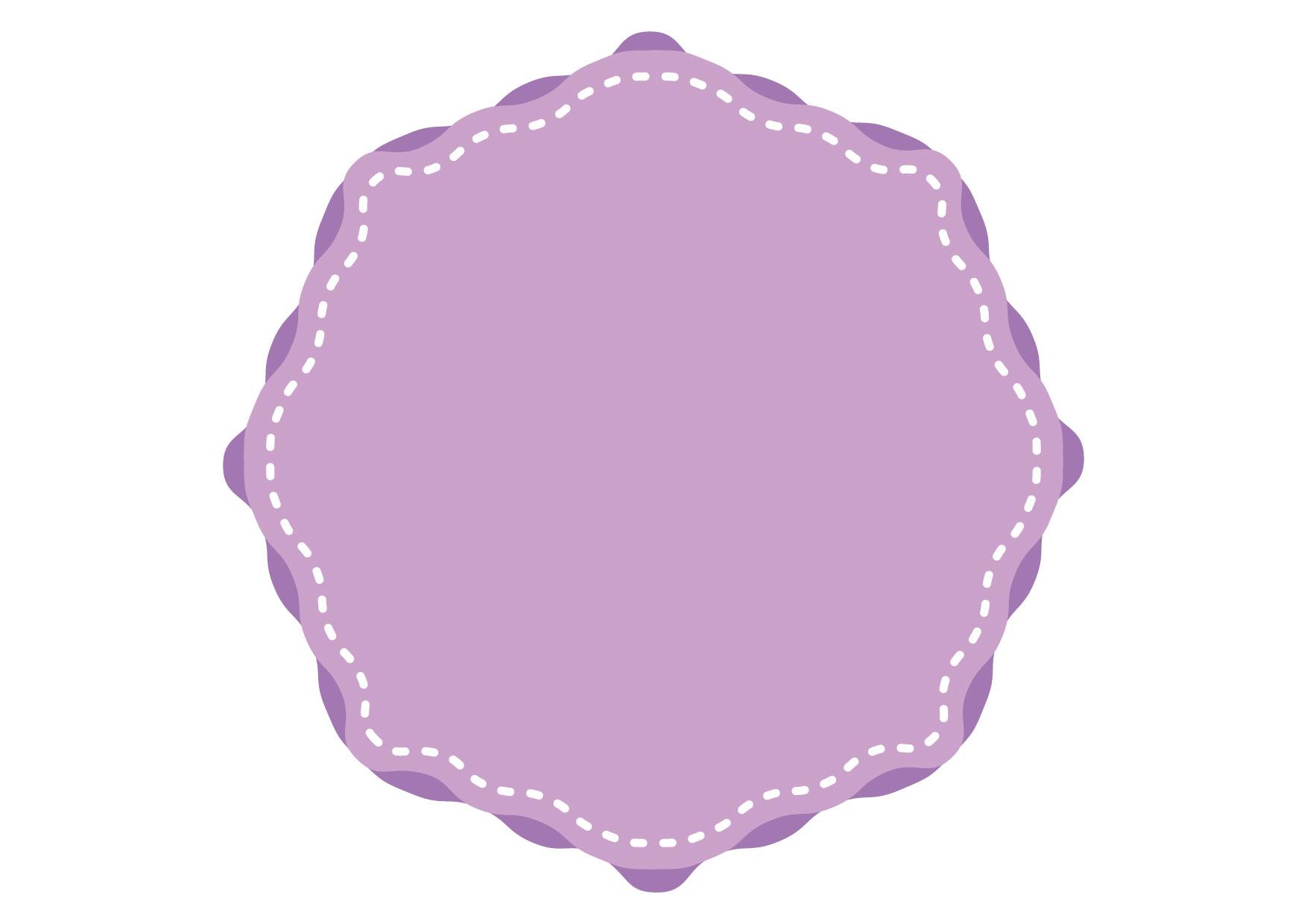 背景 紫 ステッチ フレーム イラスト 無料