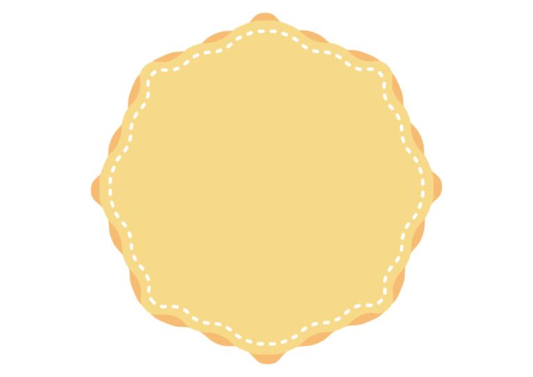 背景 黄色 ステッチ フレーム イラスト 無料
