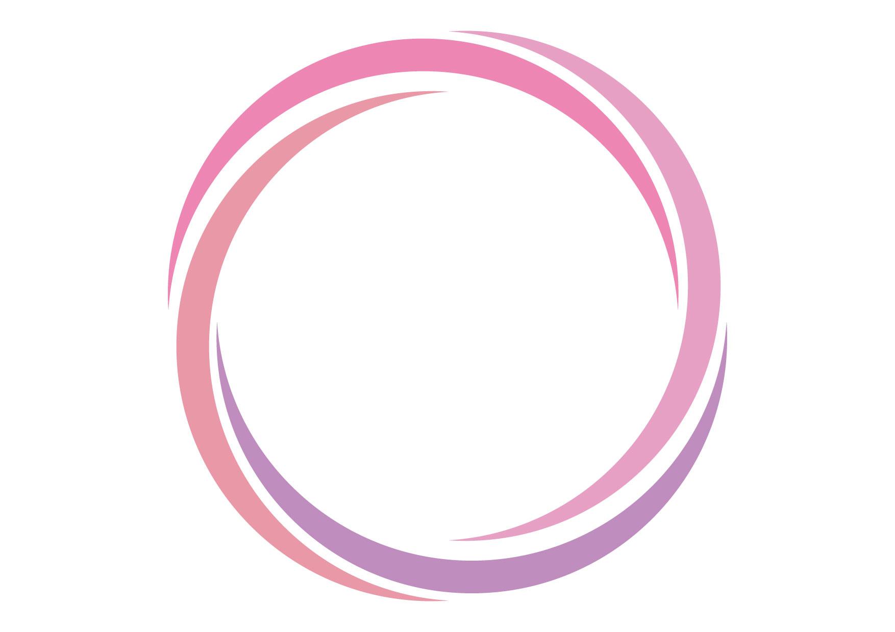 可愛いイラスト無料|フレーム スパイラル ピンク 背景 − free illustration Frame spiral pink background