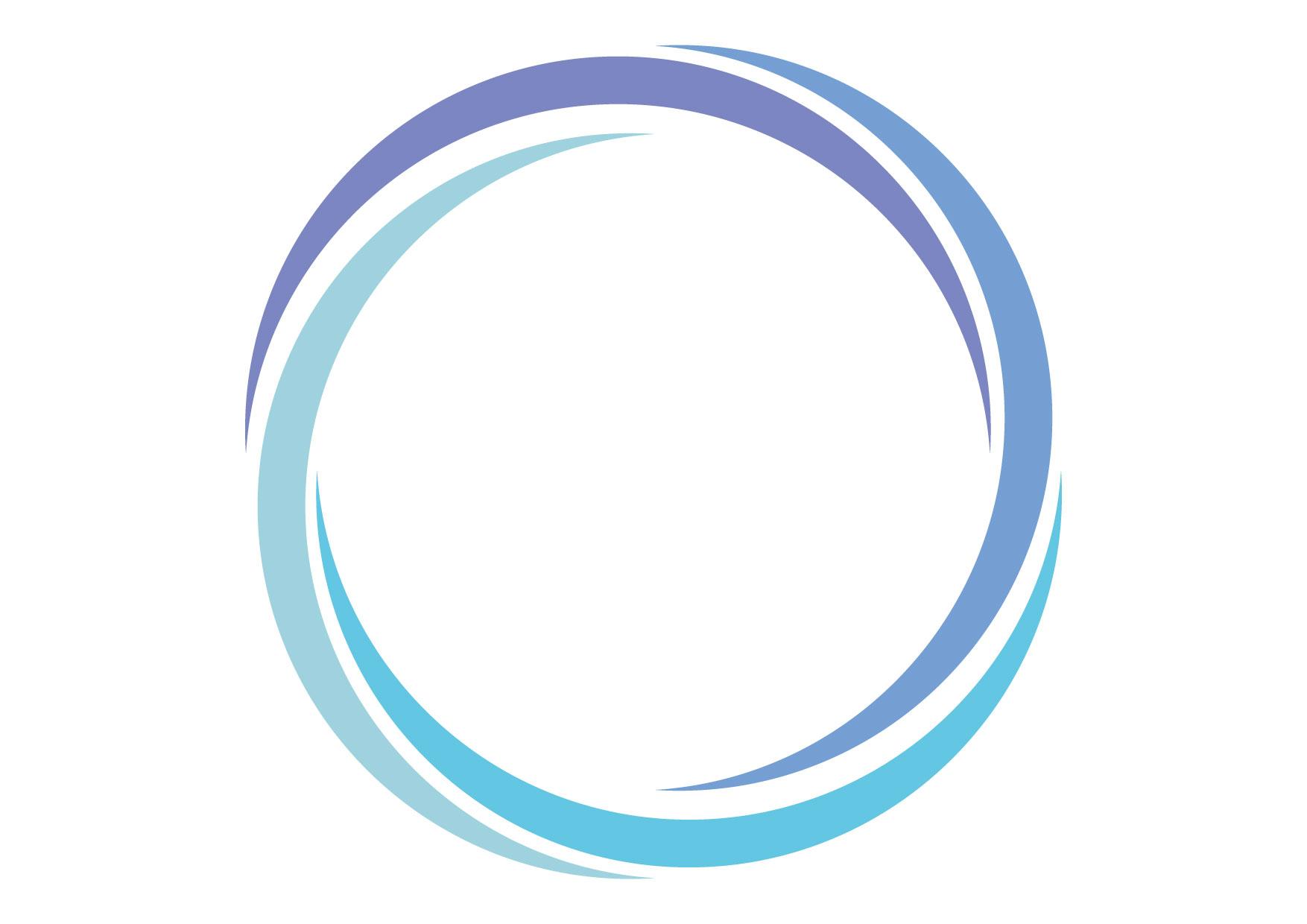 可愛いイラスト無料|フレーム スパイラル ブルー 背景 − free illustration Frame spiral blue background
