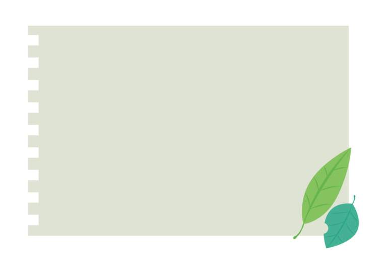 フレーム ノート 葉っぱ グリーン 背景 イラスト 無料 無料イラストの