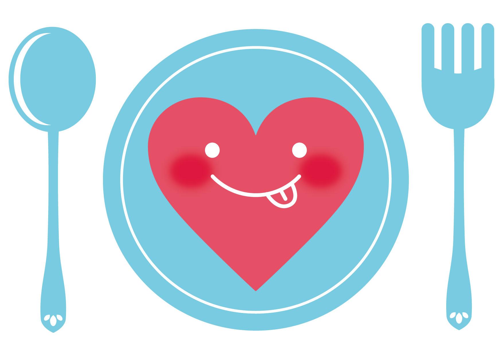 可愛いイラスト無料|お皿 ハート − free illustration Plate heart