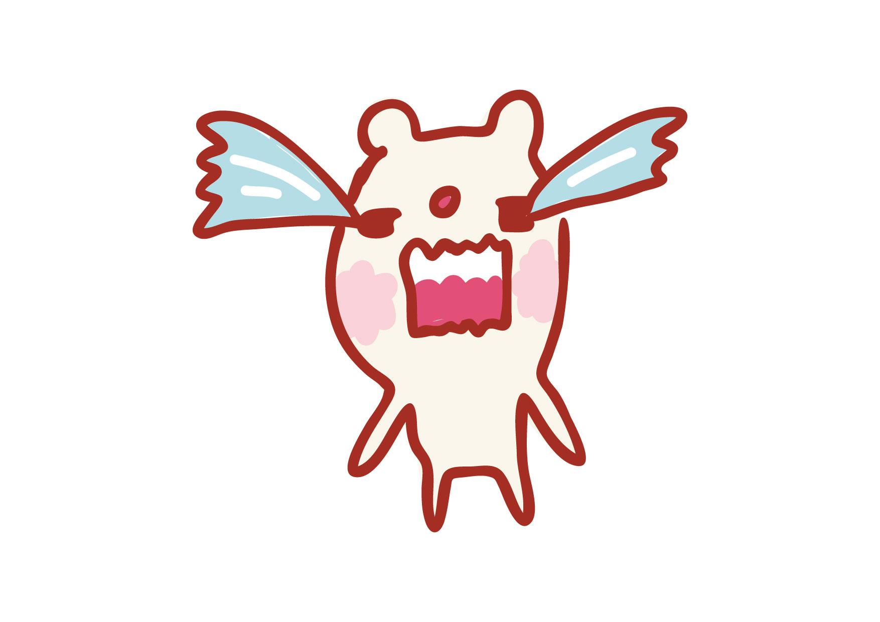 可愛いイラスト無料|くまさん 号泣 − free illustration Bear crying
