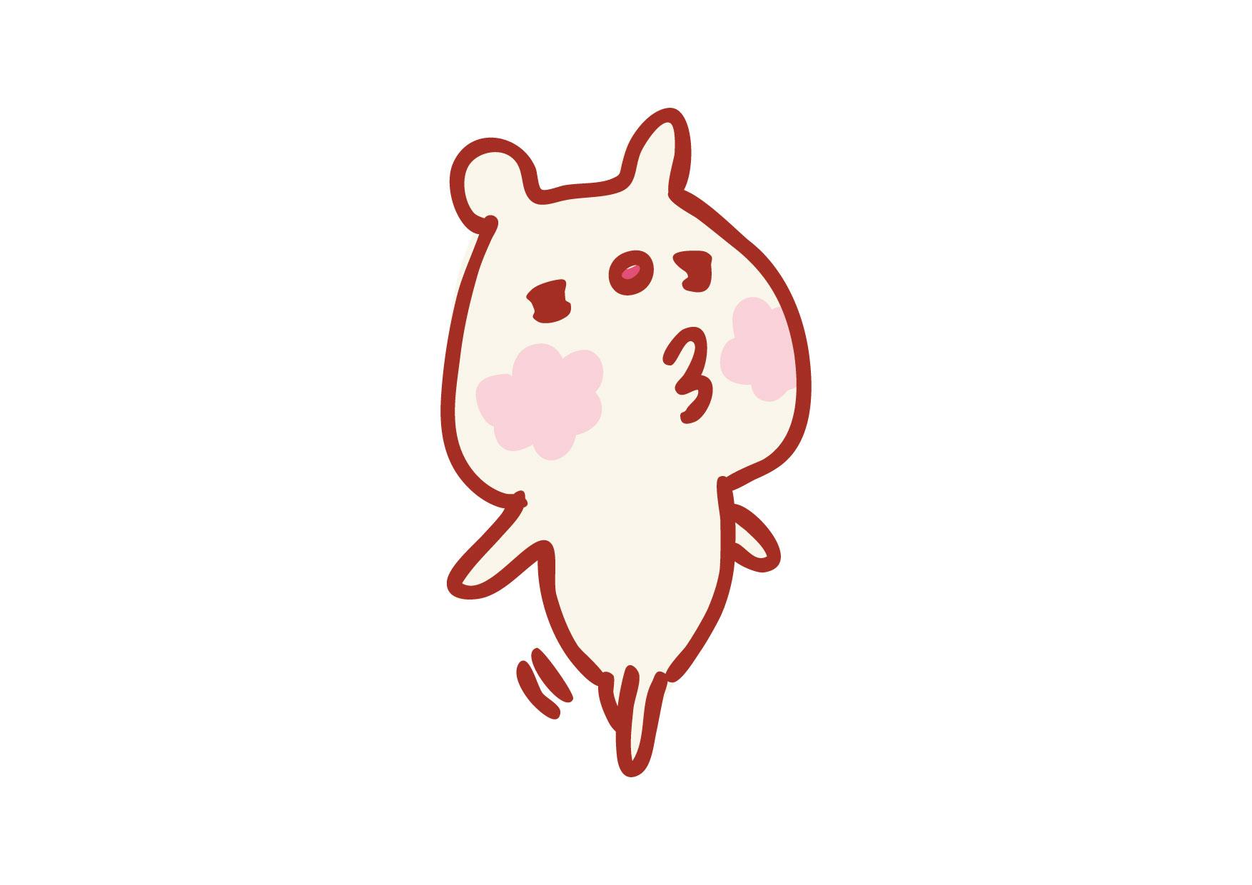 可愛いイラスト無料|くまさん キス − free illustration Bear kiss