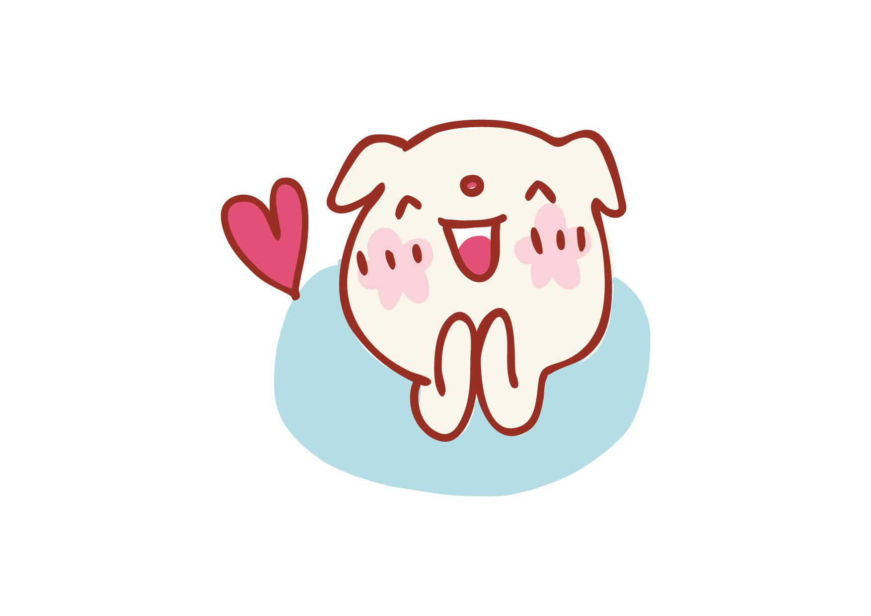可愛いイラスト無料|犬 ワクワク − free illustration Dog excited