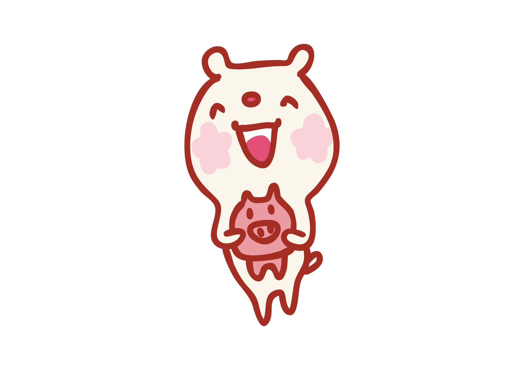 可愛いイラスト無料|くまさん 貯金箱 − free illustration Bear piggy bank
