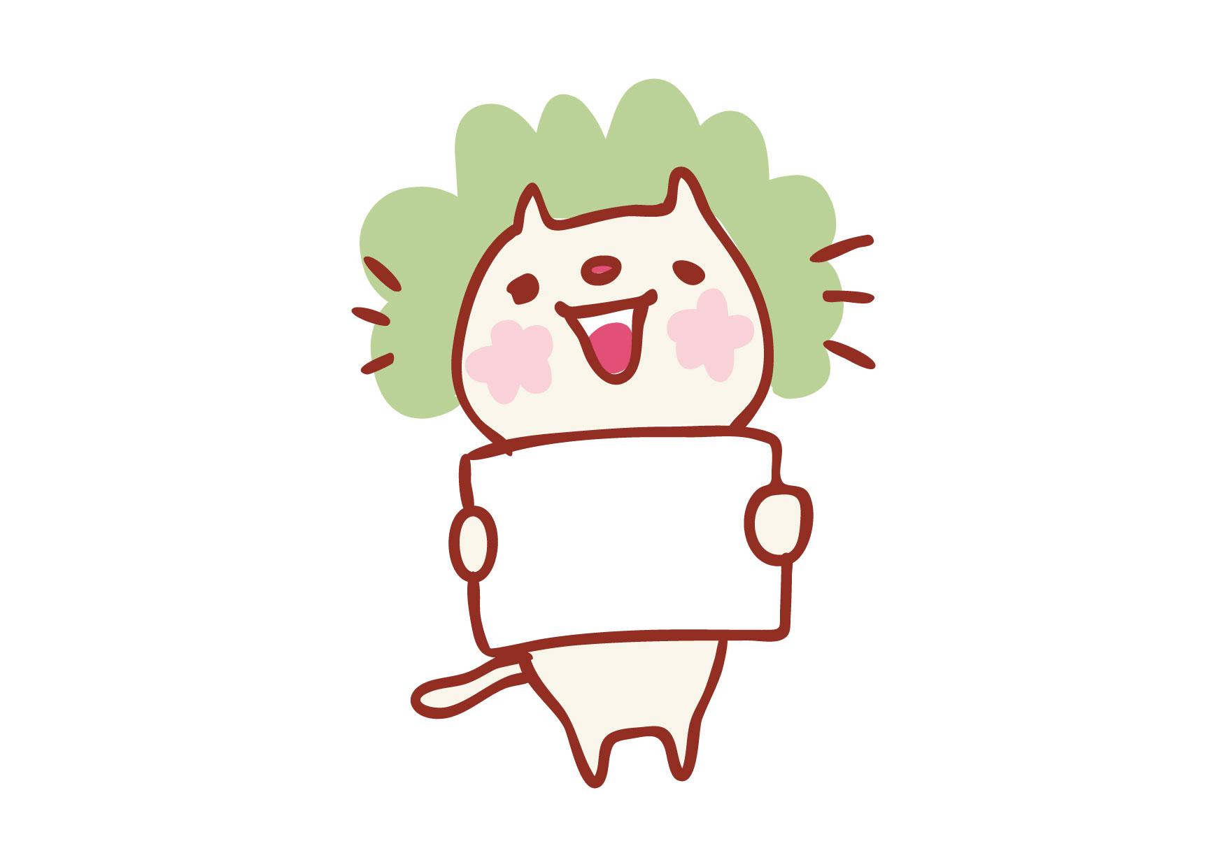 可愛いイラスト無料|フリップ 猫 − free illustration Cat flip board