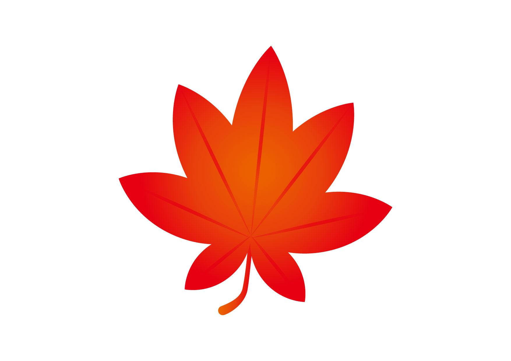 可愛いイラスト|もみじ 赤 − free illustration Maple red
