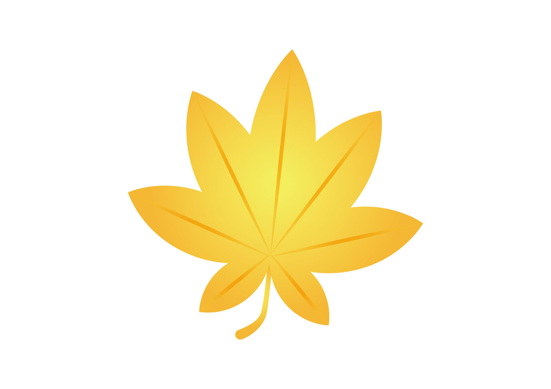 可愛いイラスト無料|もみじ 黄色 − free illustration Maple yellow