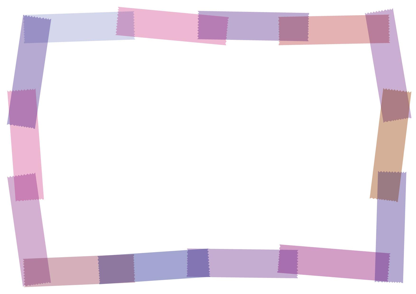 マスキングテープ フレーム 紫 イラスト 無料 | イラストダウンロード
