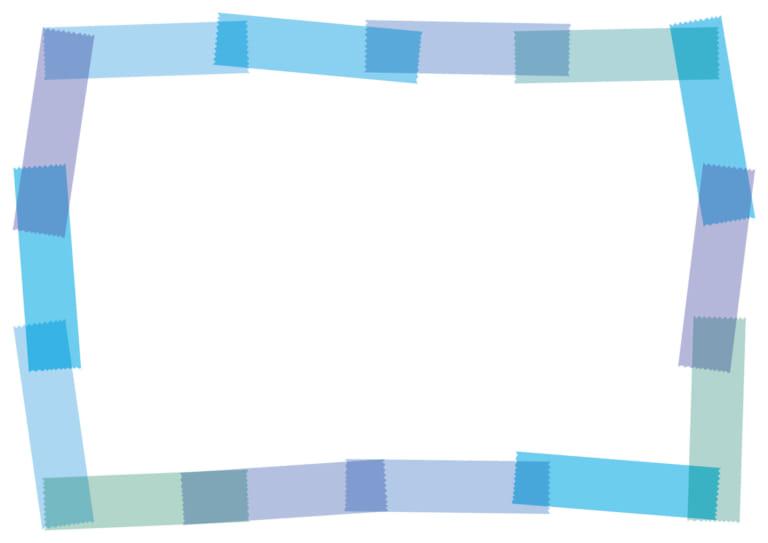 マスキングテープ フレーム 青 イラスト 無料