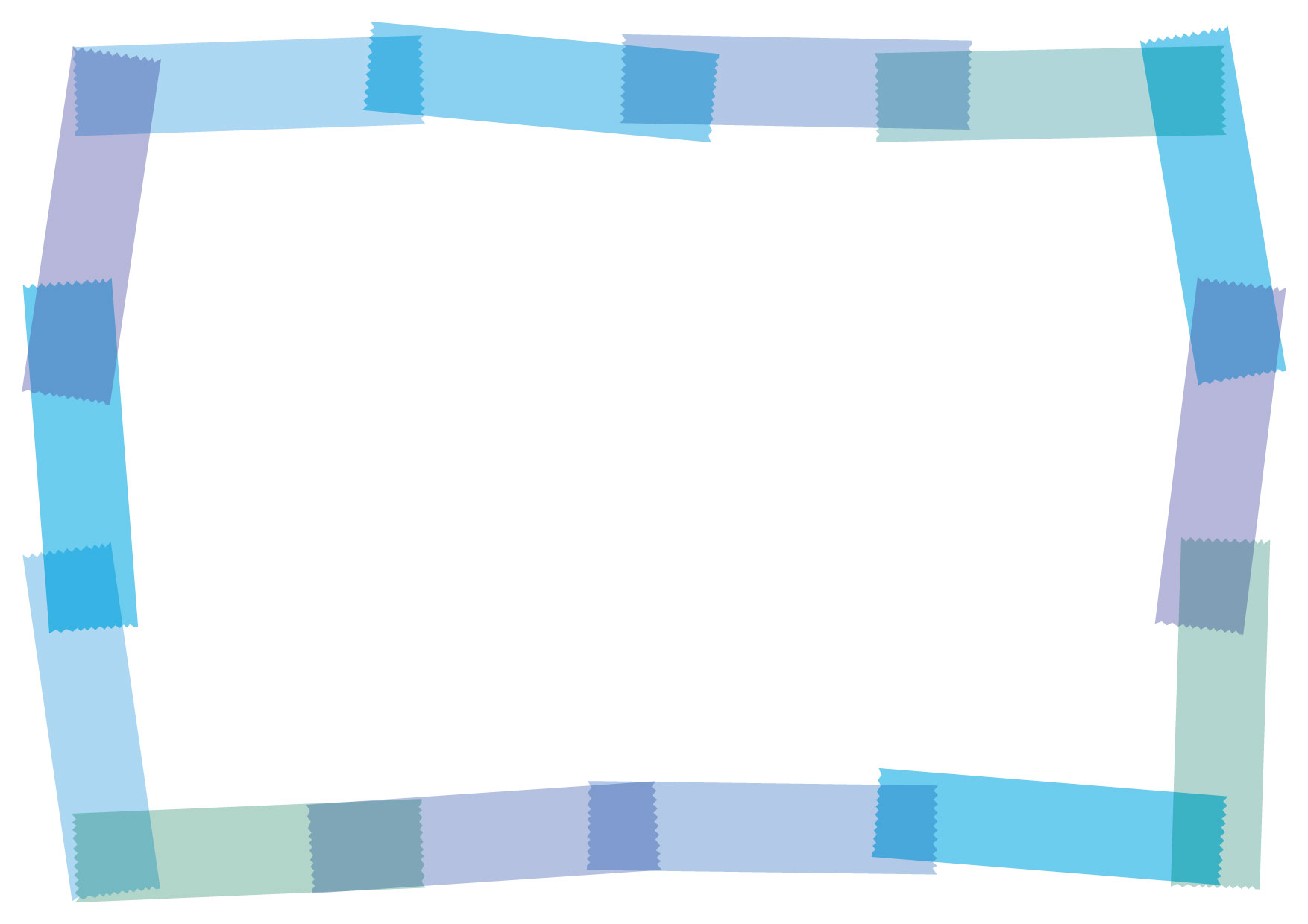 マスキングテープ フレーム 青 イラスト 無料 | イラストダウンロード
