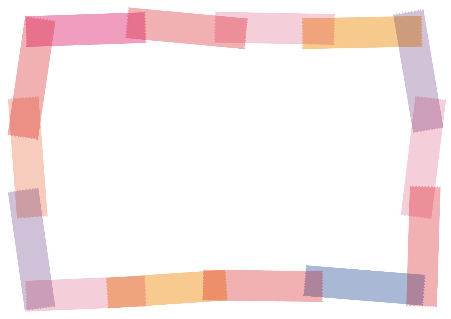 可愛いイラスト無料|マスキングテープ フレーム ピンク − free illustration Masking tape frame pink