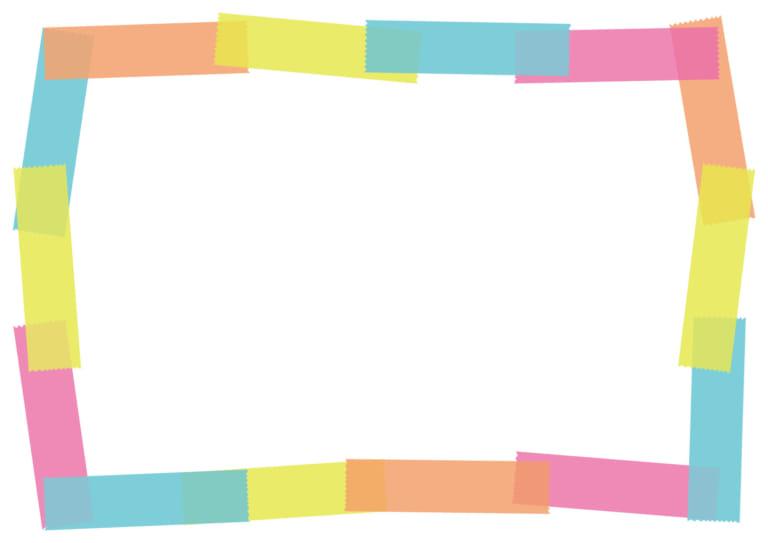 マスキングテープ フレーム カラフル イラスト 無料