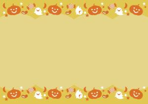 ハロウィン 背景 オレンジ イラスト 無料
