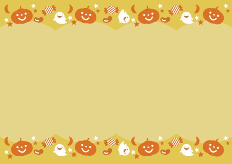 可愛いイラスト無料 ハロウィン 背景 オレンジ Free Illustration Halloween Background Orange 公式 イラスト素材サイト イラストダウンロード