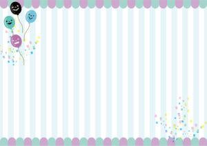ハロウィン 背景 紫 青 風船 ストライプ イラスト 無料