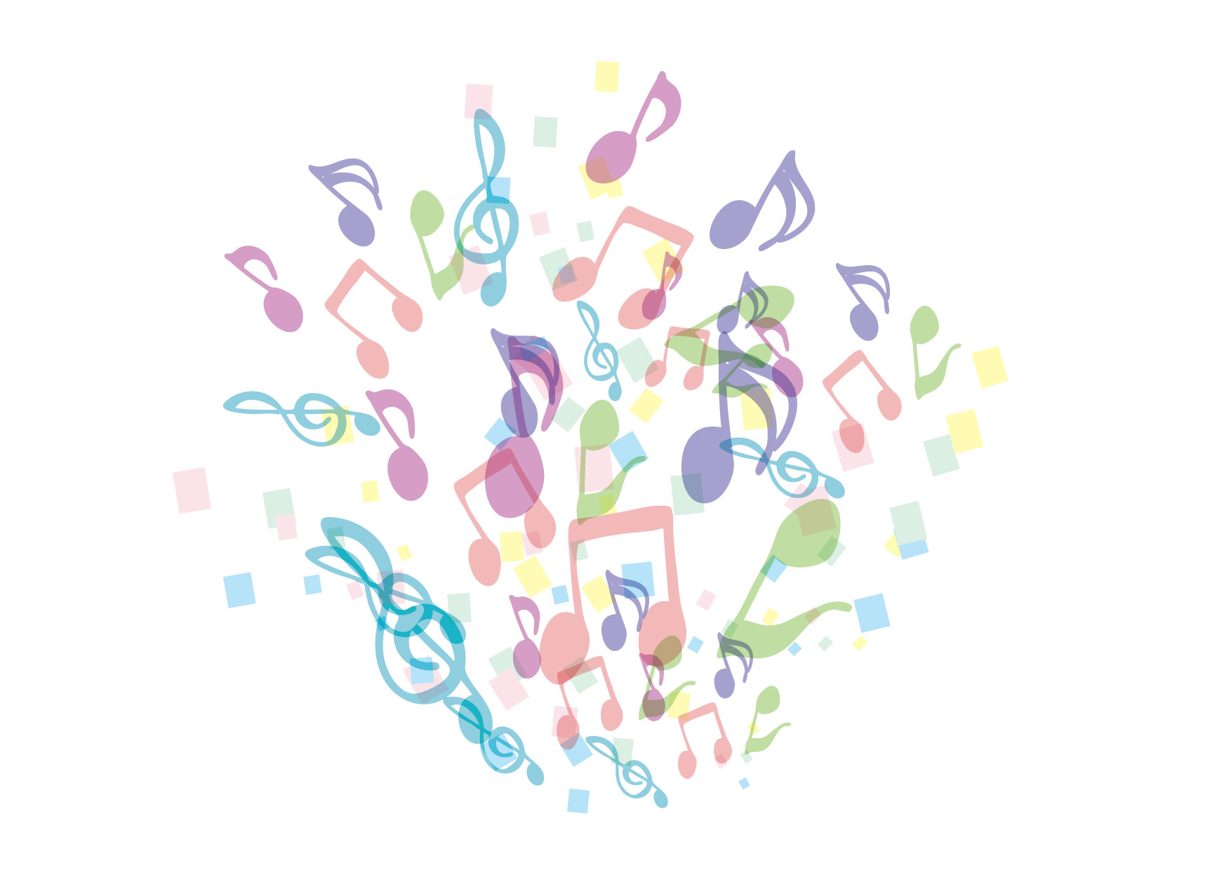 可愛いイラスト無料|音楽会 音符 − free illustration Music concert
