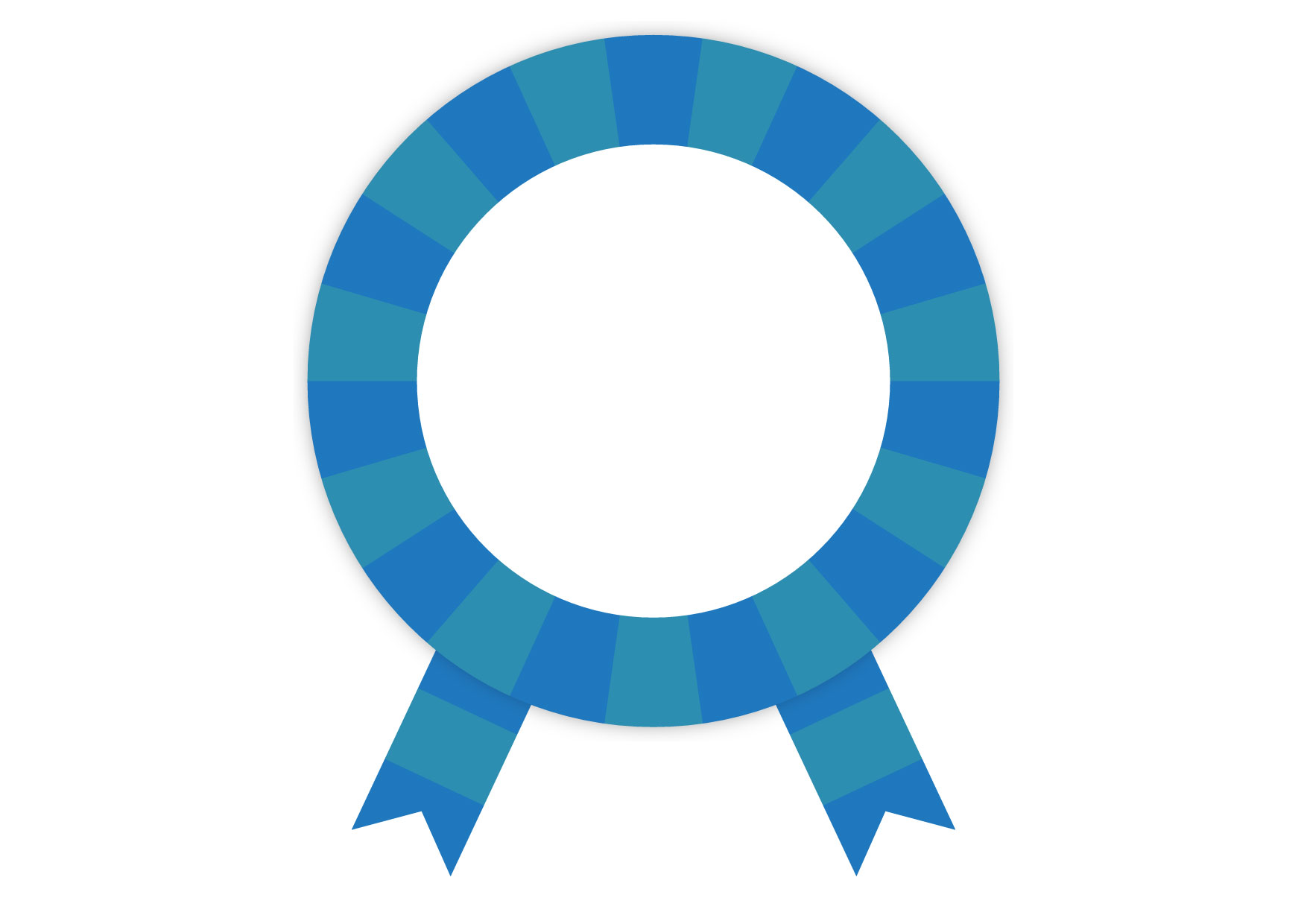 可愛いイラスト無料|青色 バッジ フレーム リボン − free illustration Blue badge frame ribbon