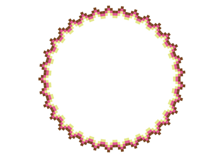 エキゾチック 円 フレーム ピンク イラスト 無料