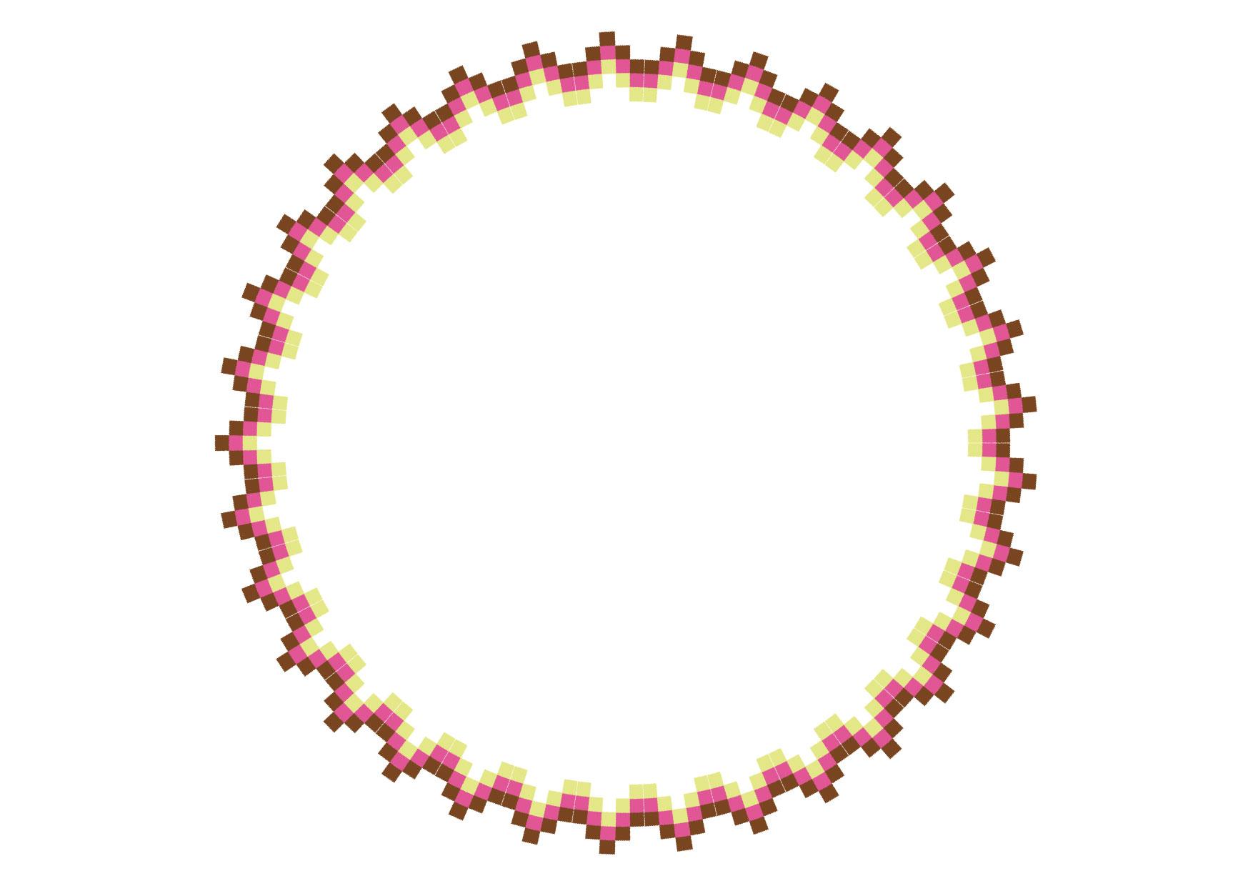 可愛いイラスト|エキゾチック 円 秋色 フレーム − free illustration Exotic circle autumn color frame